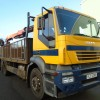 2006 IVECO STRAILIS 260E27 DROPSIDE BODY FITTED WITH PALFINGER CRANE WITH BRICK GRAB